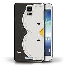 STUFF4 Case/Cover for Samsung Galaxy S5/SV/Animal Stitch Effect/Penguin