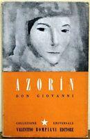 Don Giovanni di Azorin 1^ ed. Bompiani 1943