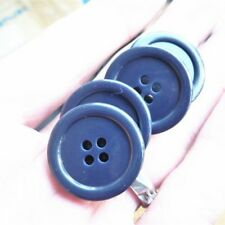 Blue Personality Antique Sewing Craft DIY Blue Shank Buttons 2Pcs