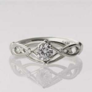 2CT ROUND CUT ANTIQUE CZ  925 STERLING SILVER ENGAGE WEDDING RING SET WOMEN'S