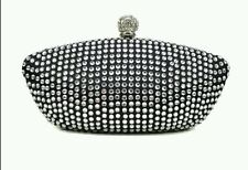 New Sparkling Rhinestone Party Bridal Evening Clutch Bag black colour