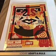 OBEY Giant 2016 Shepard Fairey Obey 3 Face Collage Litho Lower Signed and Dated