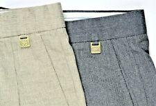 Lot 2 Alberto VO 5 Mens Dress Pants 32x30 Charcoal Heather-Gray Pleated EUC