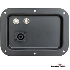5x7 Steel Pro Audio Speaker Jack Plate, 2- 1/4