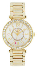 Juicy Couture Ladies' Gold T Bar Stone Set Bracelet Easy Read Watch  1901151