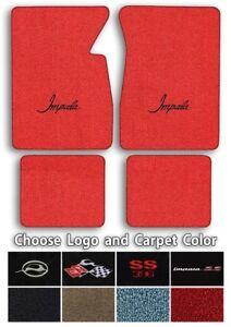 Chevrolet Impala Logo Loop Carpet Floor Mats - Choose Mat Color And Logo