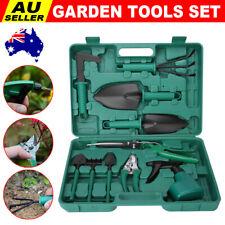 10Pcs Professional Garden Tools Set Gardening Spray Bottle Pruner Shovel Trowel