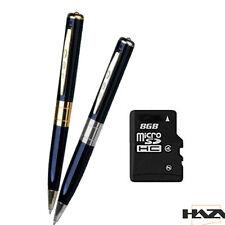 Pen Kugelschreiber Stift Kamera Cam + 8GB micro SD Speicherkarte