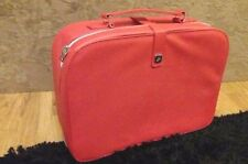 New Lancome Large Leather Like Jewelery Vanity Make up Suit Case like in Red