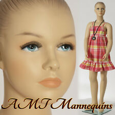 Child Female Mannequin, amt-mannequins, display girl hand made manikin-Hope