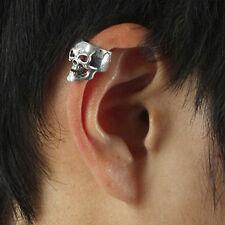 Bijou d'oreille Cool Fashion Punk Ruban Crâne Cartilage Clip on Earring Non Piercing