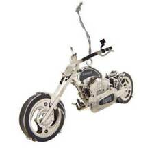 Nib-Brass DieHard Chopper Motorcycle in Gift Box Christmas Tree Ornament