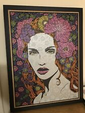 Beauty Chuck Sperry Oak Wood Panel Art Screen Print Limited Edition S/N 14/30