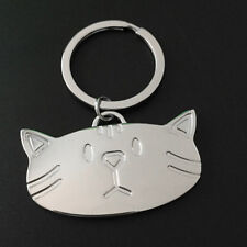 Smooth Cat Head Keychain KeyRing Bag Pendant Gift Present Lovely Accessories