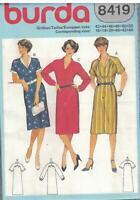 8419 UNCUT Vintage Burda SEWING Pattern Misses Shirt Dress Button Bodice OOP Sew