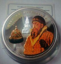 Mongolia 1000 tugrik 2007 Tsar Ivan IV  Gold Silver 2oz   mint.500pcs Box COA №2