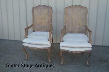 60608 Pair Bergere Louis XV Armchair Chairs