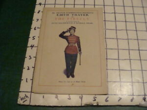 Vintage Paper -- EDITH THAYER in THE FIREFLY -- 16pgs +announcement COLONIAL