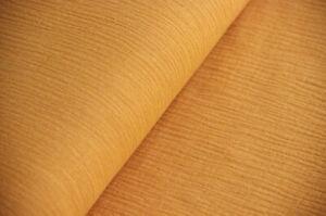 Musselin Baumwolle - Stoff Meterware - Double Gauze SENF DUNKEL * 50 cm x 130 cm