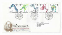 UK Royal Mail First Day Cover 1991 Dinosaurs, Plymouth