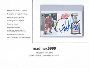 Tomas Holmstrom Detroit Red Wings AUTOGRAPH AUTO SIGNED INDEX HOCKEY CARD COA