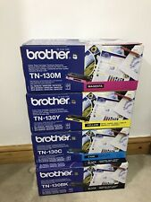 brother tn130y Tn130c Tn130m Tn130bk Genuine Sealed Toner Cartrdiges