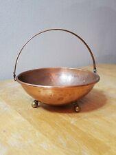 Vintage Hammered Copper Bowl Basket Centerpiece