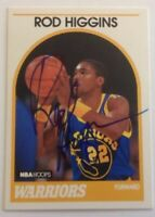 Rod Higgins 1989 Hoops Hand Signed Card Golden State Warriors