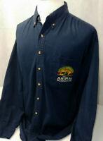 Walt Disney World Animal Kingdom Embroidered Soft L/S Button Down Shirt Mens XL