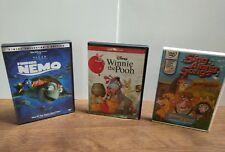 Disney DVD lot 3 Winnie the Pooh Blu-ray/DVD 2-Disc Set Finding Nemo Sing Along