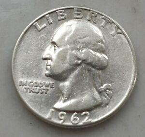 USA 1962 WASHINGTON QUARTER 90% SILVER COIN POSSIBLE ERROR