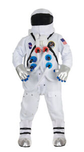 ASTRONAUT DELUXE SUIT  NASA WHITE TEEN ADULT AND PLUS SIZE COSTUME