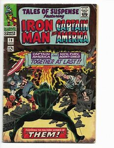 TALES OF SUSPENSE 78 - G/VG 3.0 - CAPTAIN AMERICA - MANDARIN - IRON MAN (1966)