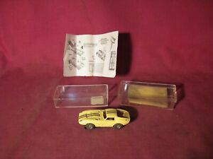 Aurora Thunderjet Slot Car - Cobra GT #1375 in Light Yellow