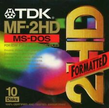 TDK MF2HD 10 disk New IBM formatted
