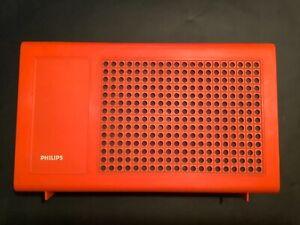 Koffer-Plattenspieler Philips 523 vintage, orange, 60er 70er
