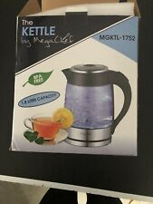 STAINLESS STEEL AND GLASS ELECTRIC KETTLE Kitchen Cordless Tea Beverage Maker