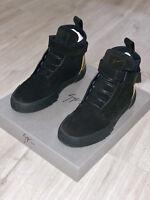 Giuseppe Zanotti Black 'Foxy Velour' hi-top sneakers. Mens Size EU 40, UK 6.