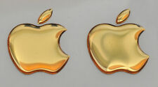 2pcs. 3D Golden Domed Apple logo stickers for iPhone, iPad cover. Size 35x30mm