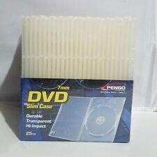 Pengo Slim DVD Video Storage Cases 7mm Durable Transparent 25 pieces New