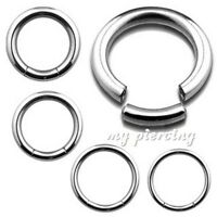 2pcs. 16g, 14g, 12g, 10g  Steel Segment Ring Ear Lip Septum Cartilage Nose Hoops