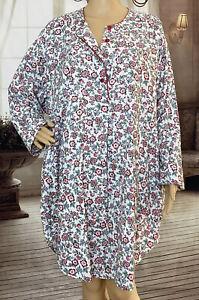 Vintage Victorias Secret M L Gold Label Floral Cotton Cottage Nightgown RESCUE