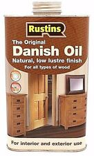 Rustins 1L DANISH OIL for Natural Worktops & Wood 1 Litre Tin Can Soft Finish