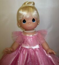 """Precious Moments 12"""" Doll """"Prettiest one of All"""" Blonde Girl Pink Dress New"""