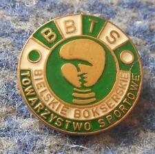 BBTS BIELSKO BIALA POLAND BOXING CLUB 1980's PIN BADGE