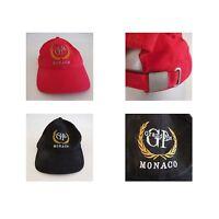 2 casquettes Grand Prix Monaco broderie vintage SOL'S BUFFALO art déco PN France