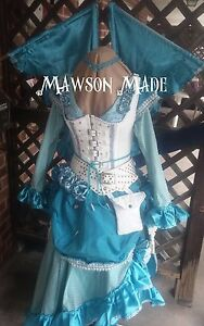 WOMEN'S STEAMPUNK FAERIE OUTFIT WITH WINGS THAT OPEN