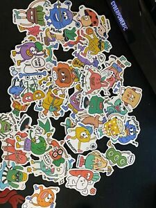 50Pcs Cartoon Stickers Vinyl Skateboard Luggage Laptop Decals   TT