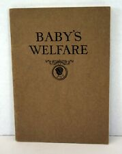 Vintage Baby's Welfare - Published by The Borden Company - 1926