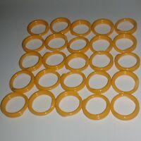 """50 ORANGE Poultry Spiral ID Leg Bands Standard Size 11 Chicken 11//16/"""" Identify"""